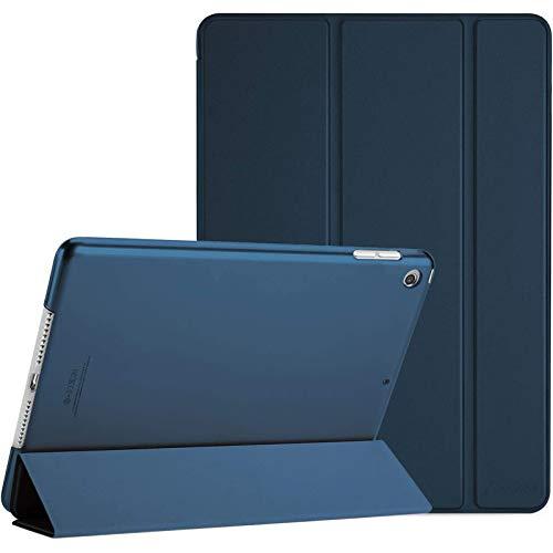 ProHülle Hülle für iPad 10.2 Zoll 2020 8th Gen/2019 7th Gen, Dreifach Falt Klapp Schutzhülle Hülle, Ultra Dünn Leicht Smart Cover mit Translucent Frosted Rück –Navy