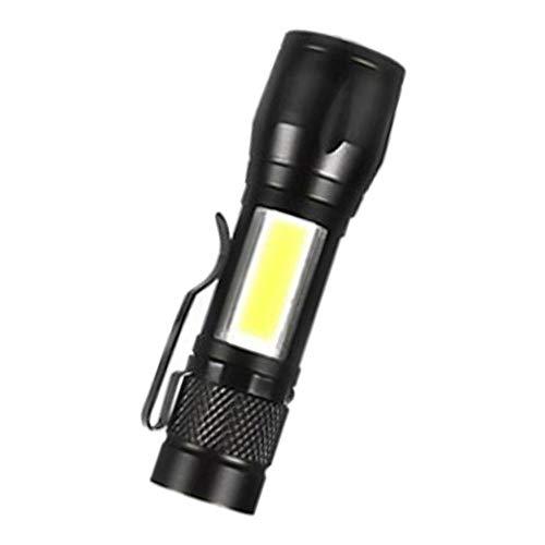 Generic USB Rechargeable Flashlight Super Bright Pocket-Sized COB Work...