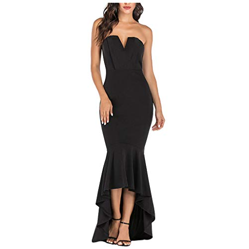 Check Out This Witspace Women's Summer Fashion Sexy Strapless High Low Party Floor-Length Mermaid Dr...