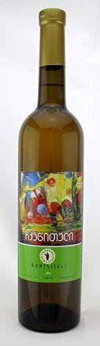 Georgischer Wein RKATSITELI, weiß trocken, aus authochtone Rebsorte, 0,75L, Georgien, Sommerwein