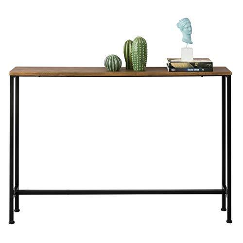 SoBuy FSB19-XL-N Table Console Table d'appoint Bout de canapé Table d'entrée Cadre et 4 Pieds en Fer - L120cm x P20cm x H80cm