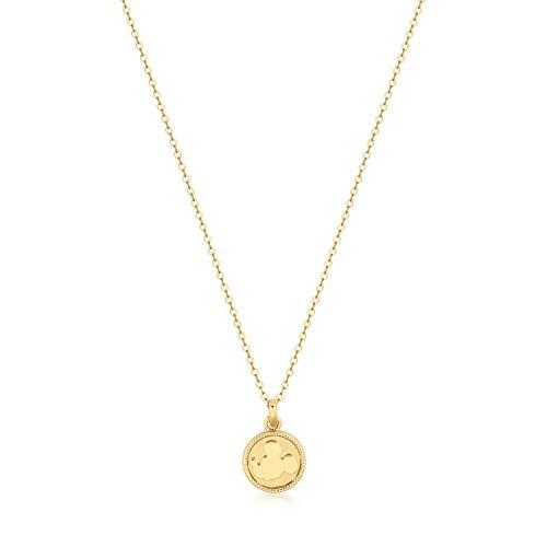 Disney Mickey Mouse medallón Reversible chapado en oro regalo collar colgante Charme