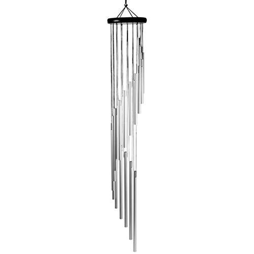 Wakauto Windspiele im Freien Große Gartenglockenspiele mit 18 Aluminiumlegierungsrohren Klavier Abgestimmt Holzwindglocke Denkmal Halloween