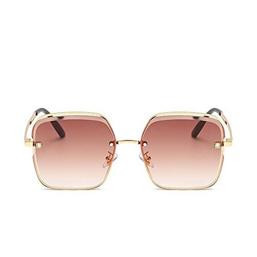 SXRAI Gafas de Sol para Mujer Gafas de Sol cuadradas Gafas graduadas de Moda Femenina,C2