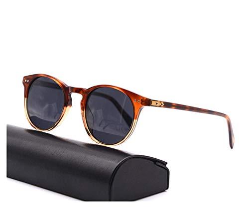 Retro Vintage Sonnenbrille Designer Damen Männer polarisierte Sonnenbrille Sir männlich Fahren im Freien Sonnenbrillen (Lenses Color : Tor Clear vs Grey)
