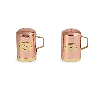 Mud Pie 4504009 Salt and Pepper Shaker Set, Copper