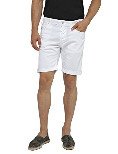 Replay Herren RBJ.901 Shorts, Weiß (White 1), W32(Herstellergröße: 32)