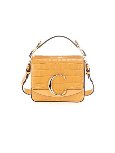 Luxury Fashion | Chloé Dames CHC19US193A87746 Geel Leer Handtassen | Lente-zomer 20