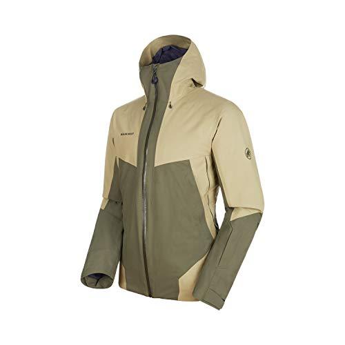 Mammut Herren Casanna Hooded gefütterte Hardshell-Jacke mit Kapuze, Iguana-Boa, XL