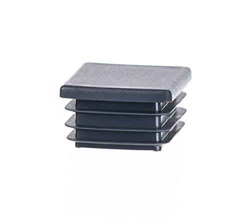 Quadratstopfen 60x60 mm Anthrazit | 10 Stück | Kunststoff Endkappen Verschlusskappen