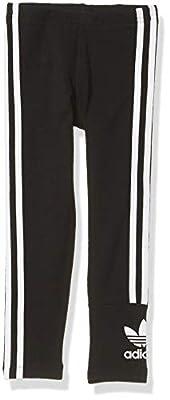 adidas Originals Girls Lock Up Tights Black/White, L