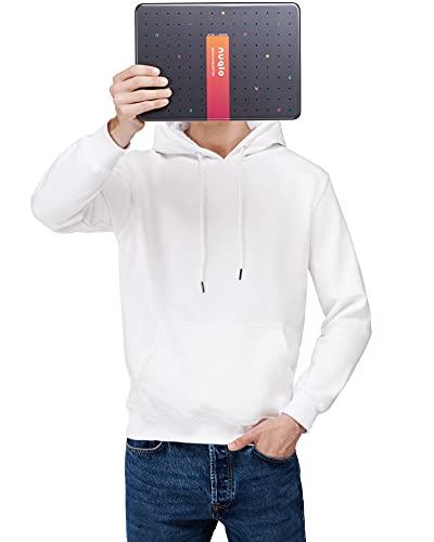 Nuqlo Felpa Uomo con Cappuccio Basic | Cotone Premium | Tessuto Interno in Fleece Light™ | Cuciture Nastrate | Maniche Lunghe