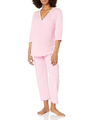 Japanese Weekend Seasonless Wrap Nursing Pajamas - Pink - Medium