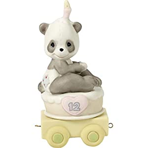 Precious Moments, Give A Grin And Let The Fun Begin, Birthday Train Age 12, Bisque Porcelain Figurine, 142032