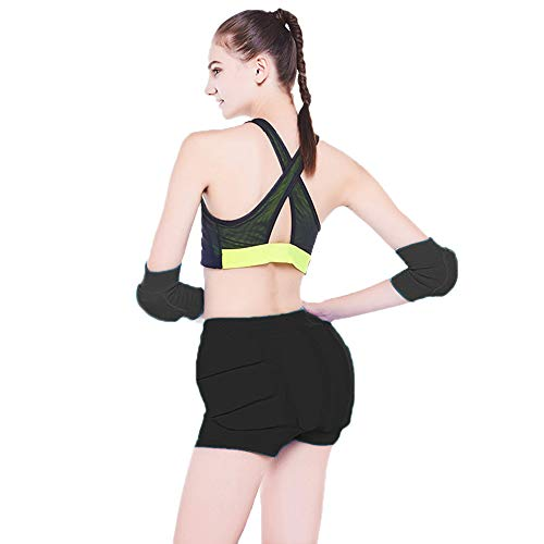 LIUHUO Ice Figure Skating Shorts Hip Pad Protector Padded Youth Adult Guard Ski Roller Snow Crash Butt Pads for Hips Tailbone & Butt