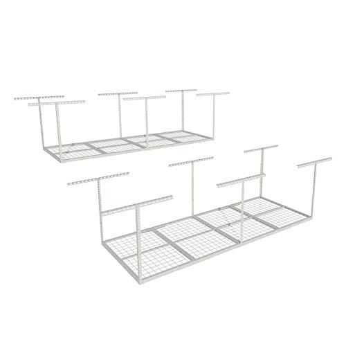 FLEXIMOUNTS 2-piece 3x8 ft Overhead Garage Storage Rack Set Ceiling Storage Racks Adjustable Heavy Duty, 96