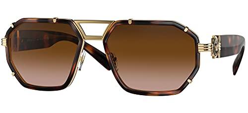 Gafas de Sol Versace ENAMEL MEDUSA VE 2228 Havana/Brown Shaded 59/18/145 hombre