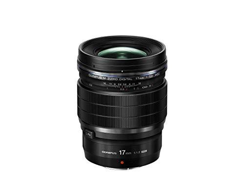 Olympus M.Zuiko Digital ED 17mm F1.2 PRO Objektiv, lichtstarke Festbrennweite, geeignet für alle MFT-Kameras (Olympus OM-D & PEN Modelle, Panasonic G-Serie), schwarz
