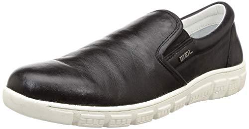 Woodland Men Black Leather Moccasins-9 UK/India (43 EU) (OGW 2167116)