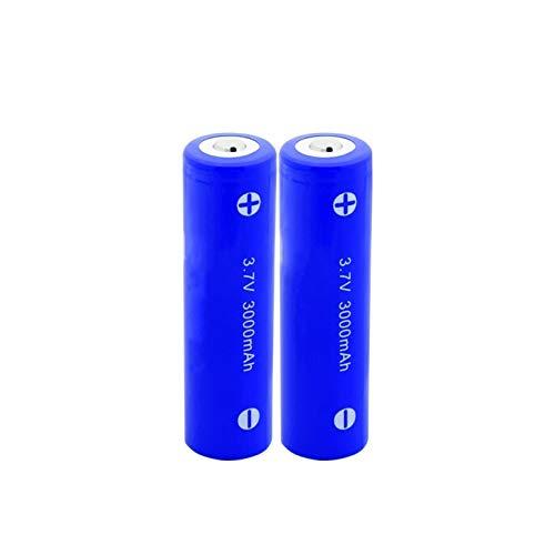 yfkjh 3.7v 3000mah 18650 Li-Ion batería de litio, INR 18650-30q batería recargable para luz led 2PCS