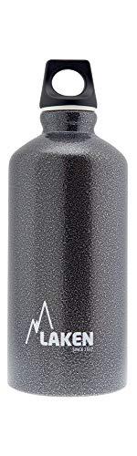 Bouteille d'eau en aluminium Futura de Laken avec bouchon à vis et goulot étroit, Gourde Alum 0,6 Litre, Granite