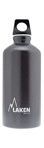 Laken Futura Botella de Agua, Cantimplora de Aluminio Boca Estrecha 0,6L, Gris