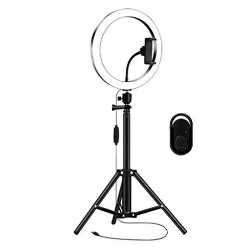 balikha Flash de Video en Vivo con Luz de Anillo LED Regulable USB con Kit de Soporte para Teléfono Selfie