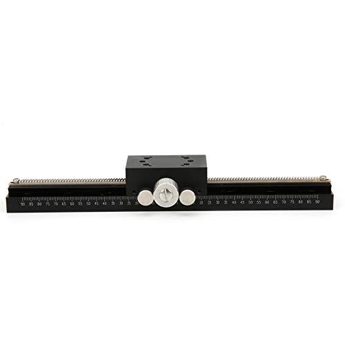 EVTSCAN Última plataforma de recorte manual, plataforma de recorte manual Aleación de aluminio X Escenario deslizante Reemplazo para Misumi XDTLS200 Tamaño de la mesa: Aprox. 50 x 30 mm/2 x 1,2 pulgad