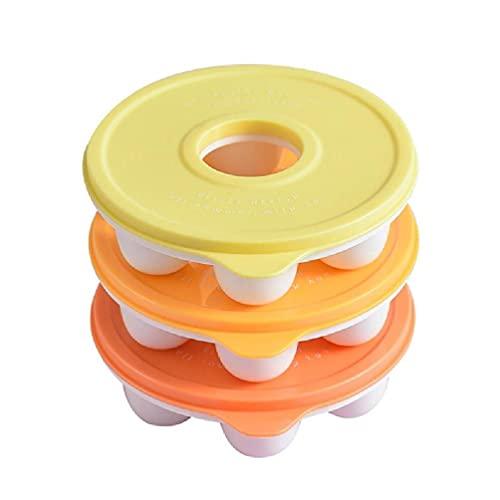 3 piezas/juego de 6 rejillas de molde redondo para cubitos de hielo con tapa esfera fabricador de bolas de hielo bandeja reutilizable para congelador molde para whisky redondo molde para de