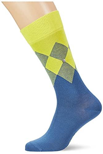 BURLINGTON Herren Socken Hampstead, Baumwolle, 1 Paar, Blau (Lupine 6522), 40-46 (UK 6.5-11 Ι US 7.5-12)