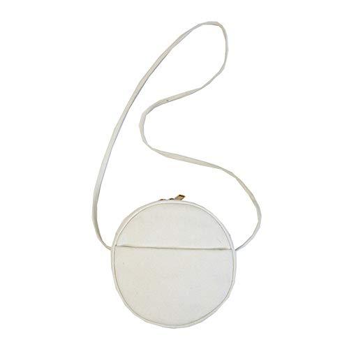Bolso ligero de la honda de la moda del monedero del teléfono del bolso pequeño del crossbody bolso de la lona del hombro para las mujeres de, blanco (Blanco), Small