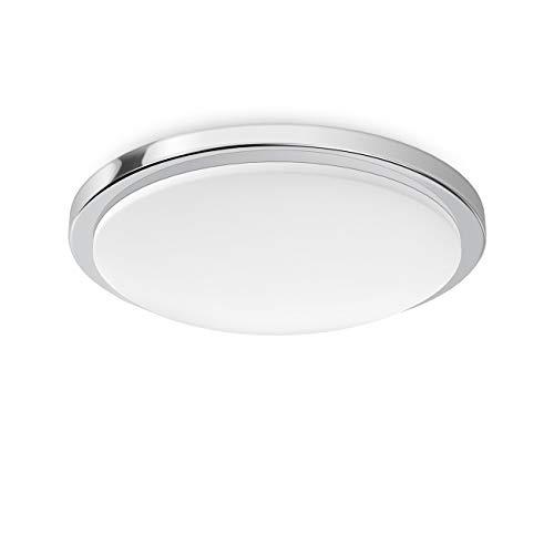 LVWIT Lámpara de Techo LED - 24W, Plafón LED de 2100 lúmenes, Color blanco neutro 4000K, No regulable - Impermeable IP54.