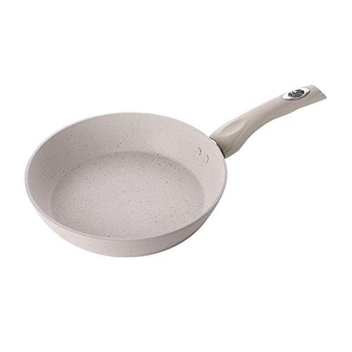 Blanc cassé Frying Pan - Art de la table en métal multi-fonction Maifan Pierre antiadhésive Mini Frying Pan JIAMING