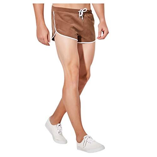 Kurz Laufshorts Herren Baumwolle Boxer Briefs Pyjama Männer Casual Haushalt Home Shorts Fitness Laufhose Sport Hosen Trainingshose