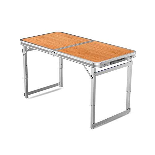 Tables CJC Selles Pliant Camping Ultra-léger Aluminium Portable Un Barbecue Pique-Nique Camping Cuisine Travail Devoirs (Couleur : T3)