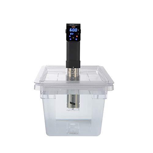 Sous Vide Behälter aus Polycarbonat, 18 l, mit passgenauem Deckel, passend für iVide Pro Sous Vide Herd