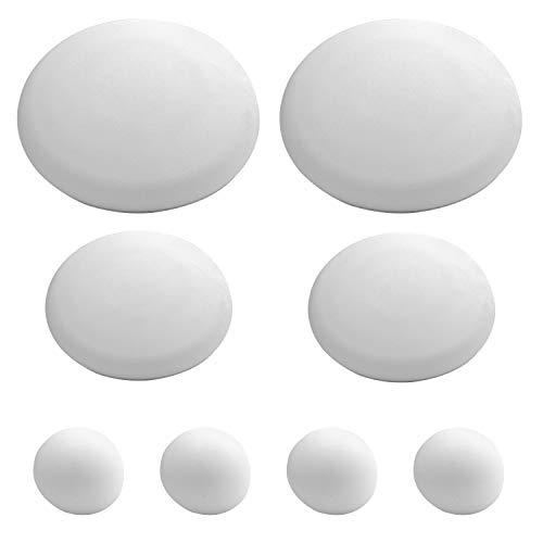 ORYX 5322100 Topes Adhesivos para Paredes/Puertas/Ventanas/Mobiliario 2 x Ø 60 mm. / 2 x 40 mm. / 4 x 22 mm. (Blister 8 piezas)