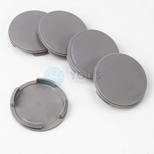 5 X Chapeaux de Moyeux Enjoliveurs de Moyeux Couvercles de Jantes 60,0-56, 0 mm - ZA1327 - Gris Foncé