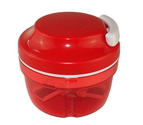 TUPPERWARE Turbo-Chef Zwiebelschneider Chef Speedy Boy rot 10124