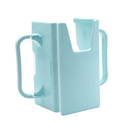Sukisuki Baby Water Cup Peuter Sap Melk Safety Box Fles Cup Houder met handvatten - Blauw Blauw