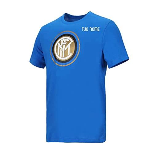 MAESTRI DEL CALCIO T-Shirt Logo Blu Inter Bambino Originale Ufficiale Personalizzabile Personalizzata (L (12/13 Anni)) (Abbigliamento)