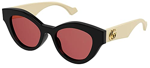 Gucci Gafas de Sol GG0957S Black/Orange 51/19/145 mujer