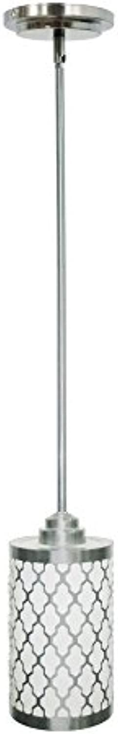 Style Selections 5.35-in Brushed Nickel Hardwired Mini Cylinder Pendant