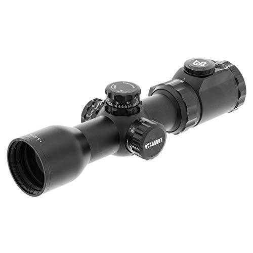 UTG Unisex– Erwachsene OP3 1.5-6X36 Crossbow Scope, AO, RGB, 130 Hunter BDC Zielfernrohr, schwarz, one Size