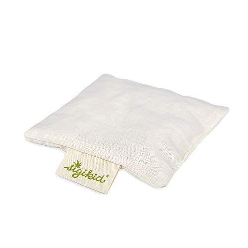 Sigikid 48999, Einschlafhilfe zum Einlegen in Wärmekissen und Handspielpuppen, 9x9x2,5 cm Zirbenholz-Säckchen, Zirben-Holz/klein