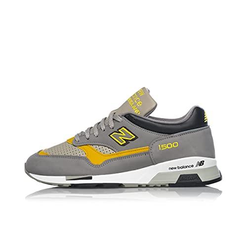 New Balance Zapatillas bajas M 1500 para hombre, Grey Yellow M1500ggy, 43 EU