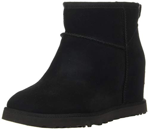 UGG Women's Classic Femme Mini Boot, Black, 5