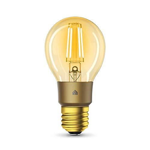 TP-Link KL60 Lampadina Wi-Fi E27, 5 W, Funziona con Alexa e Google Home, 450 Lumen, Dimmerabile, Controllo da remoto, Nessun hub richiesto, Caldo Colore Ambrato