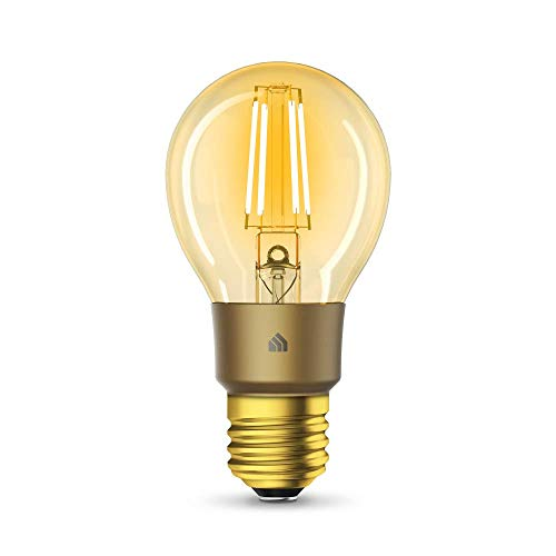 TP-Link KL60 Kasa Ampoule connectée WiFi à Filament, Ampoule Led E27, 5W, Compatible avec Amazon Alexa, Google Home et IFTTT, Ambrée Chaud Dimmable, Contrôle à distance par App, Aucun hub requis