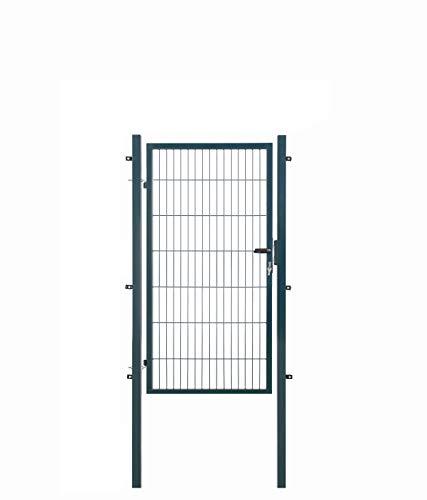 Koll Living Gartentore für Stabmattenzaun - Farbe und Höhe wählbar - inkl. Pfosten und Befestigungsmaterial (Gartentor H 140 x B 100 cm, anthrazit)